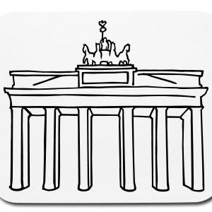 Brandenburg Gate Berlin Mouse Pad Horizontal Berlin T Shirt In 2020 Brandenburg Gate Brandenburg Berlin