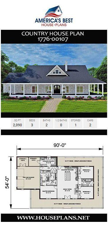 single story wrap around porch farmhouse