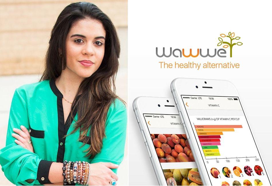 """Conheça Rafaela Frota: uma jovem que aos 14 anos teve uma idéia revolucionária que culminou com a criação do App Wawwe: """"we are what we eat""""."""