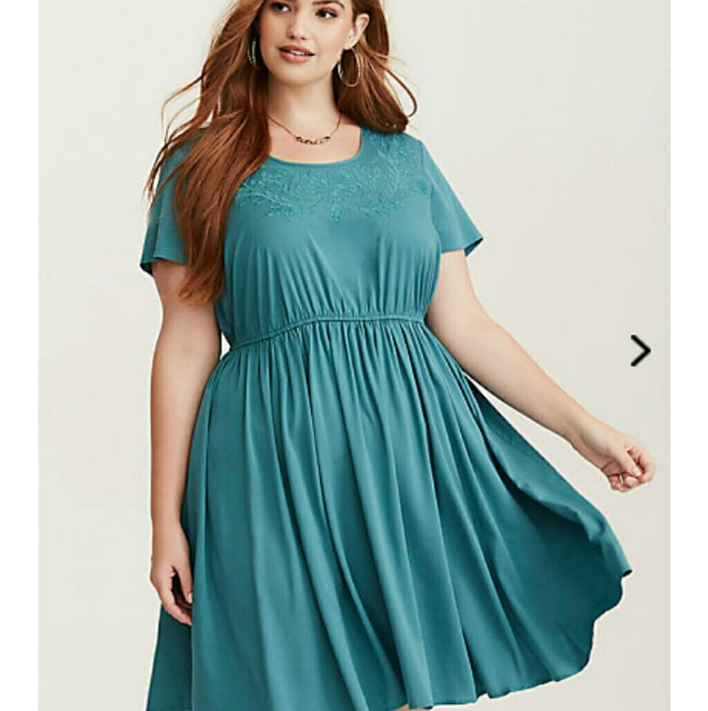 Torrid Teal Skater Dress 2xl!!! Brand New!!! | Products