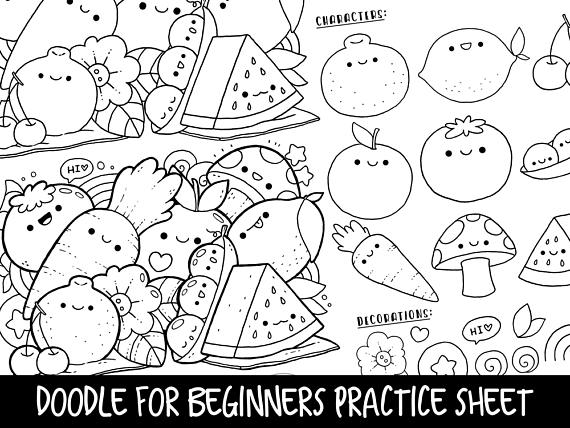 7 Fun Food With Faces Coloring Pages For Children With Images