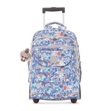 sanaa printed wheeled backpack