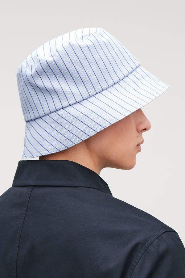 2875b483 Cos STRIPED BUCKET HAT   headwear in 2019   Hats, Bucket hat ...