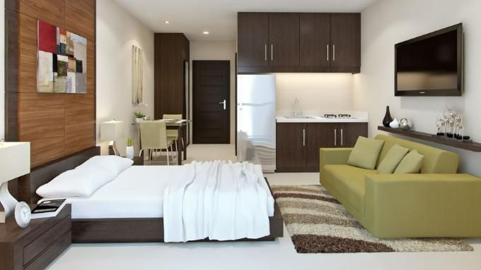 20sqm Studio Type Unit Studio Type In 2019 Condo Interior