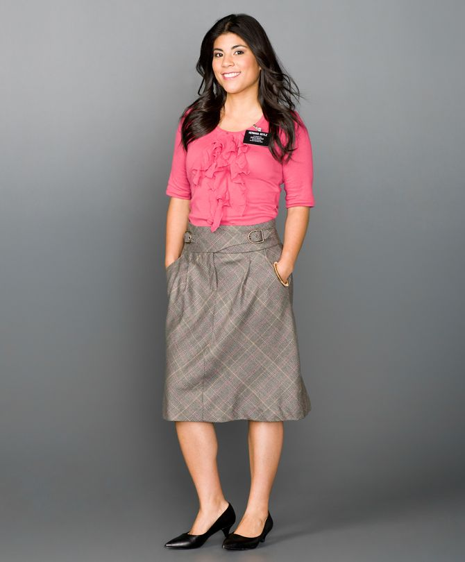 Cute skirt, and love the shirt style and (of course) the ...