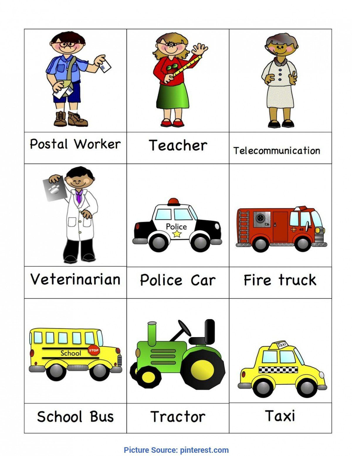 Community Helpers Worksheet For Preschool Preschool