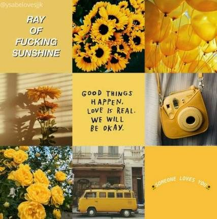 47+ New Ideas For Wall Paper Yellow Aesthetic Collage