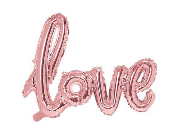 Rose gold/pink Love script balloon, love balloon, wedding balloon, wedding backdrop, rose gold decorations, hen party decorations