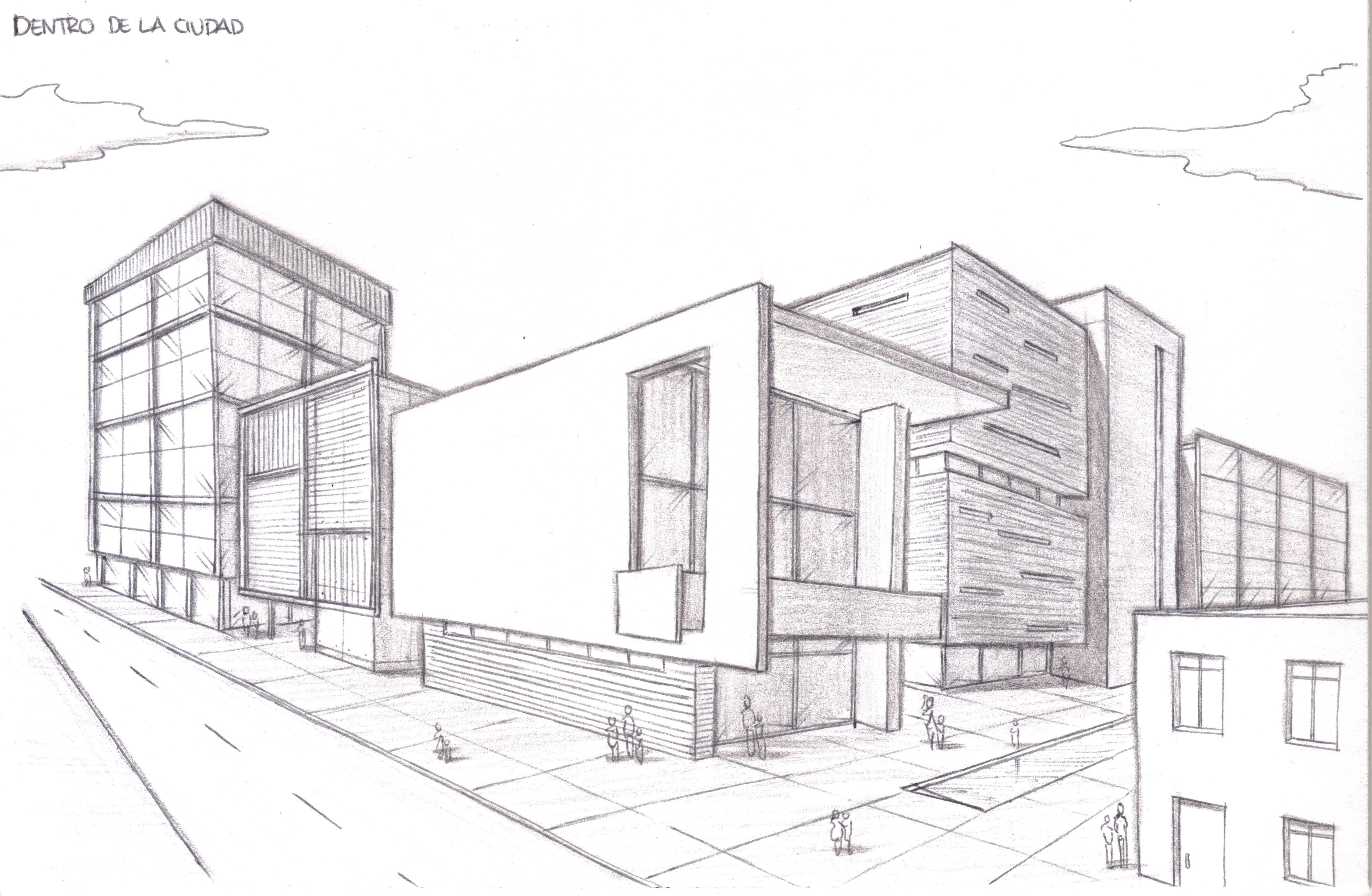 Composicion Con Dos Puntos De Fuga Buscar Con Google Punto De Fuga Edificios Perspectiva Arte En Perspectiva
