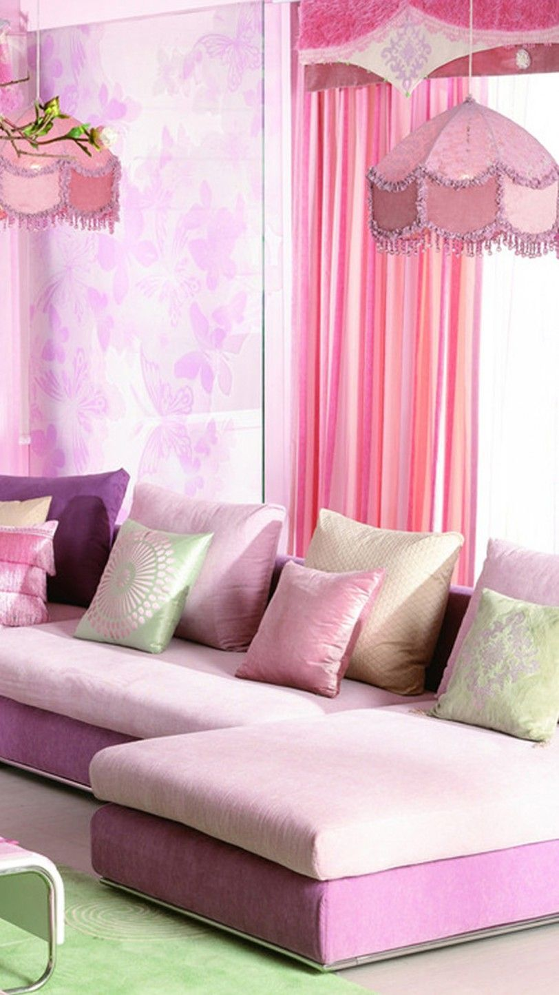 Pink Living Room Design Ideas Pink Fabric Living Room ...