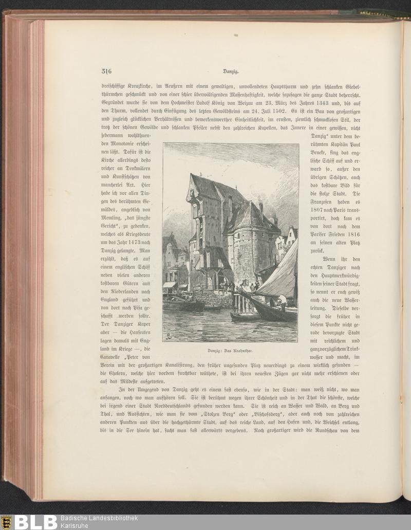442 [316] - Illustration: Danzig. Das Krahnthor - Seite - Inhouse-Digitalisierung - BLB Karlsruhe