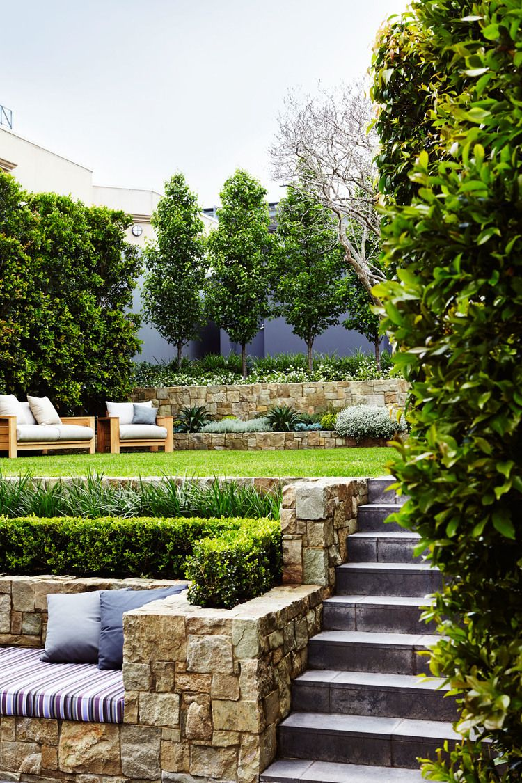 Outdoor Establishments North Shore Landscape Design Small Backyard Landscaping Sloped Garden Landscape Design