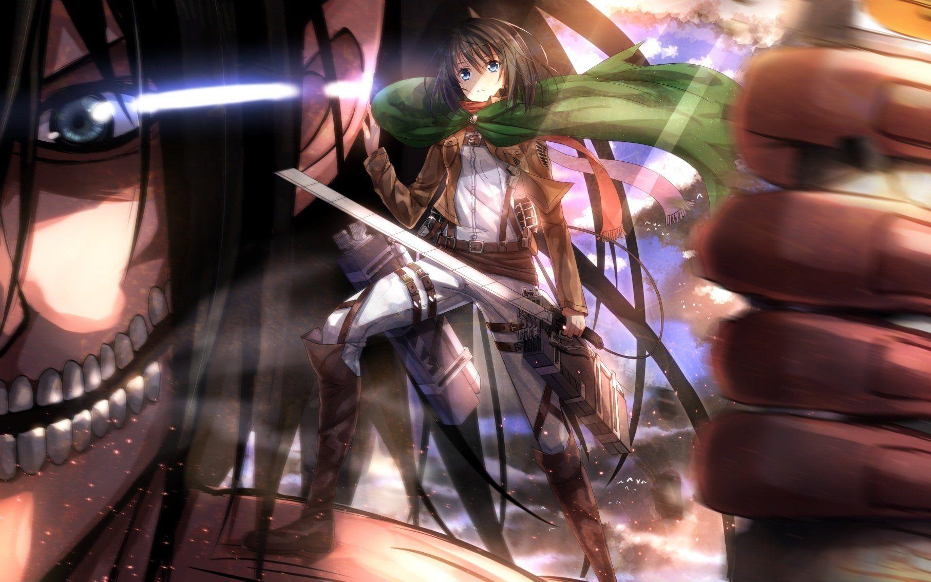 Anime Attack On Titan Anime Mikasa Ackerman Wallpaper Eren And Mikasa Attack On Titan Attack On Titan Anime