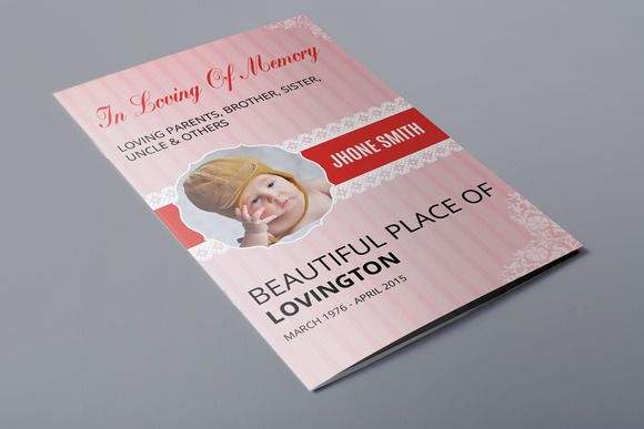 Child Funeral Program TemplateV  Brochure Template