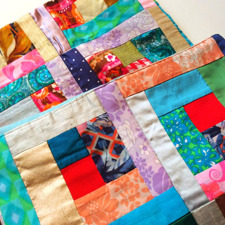 Swedish Vintage Quilt Retro Fabrics Handmade Blanket Vintage Fabric Floral Print Scandinavian Design 60s Mod Handcraft Home Decor Gift Vintage Modern Quilts Modern Quilts Quilts