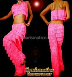 9c75ee6db Pink Sweet Samba Yulia Fringe Pants And Top in 2019 | Dance Costumes ...