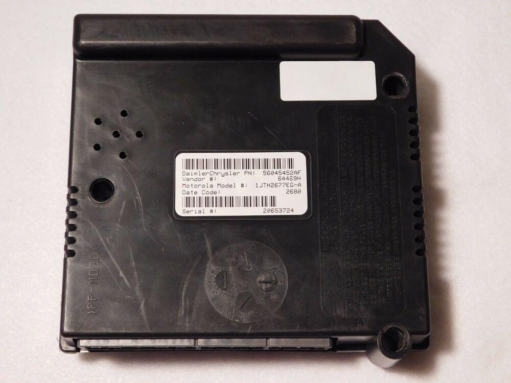 2001 03 Dodge Dakota 56045452af Central Body Timing Control Module Bcm Ctm Daimlerchrysler Game Boy Advance Sp Game Boy Advance Gameboy