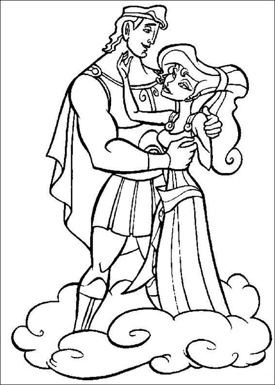Hercules Fargelegging for barn. Tegninger for utskrift og fargelegging nº 18