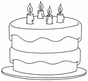 Birthday Cake Coloring Pages Colorings World Happy Birthday