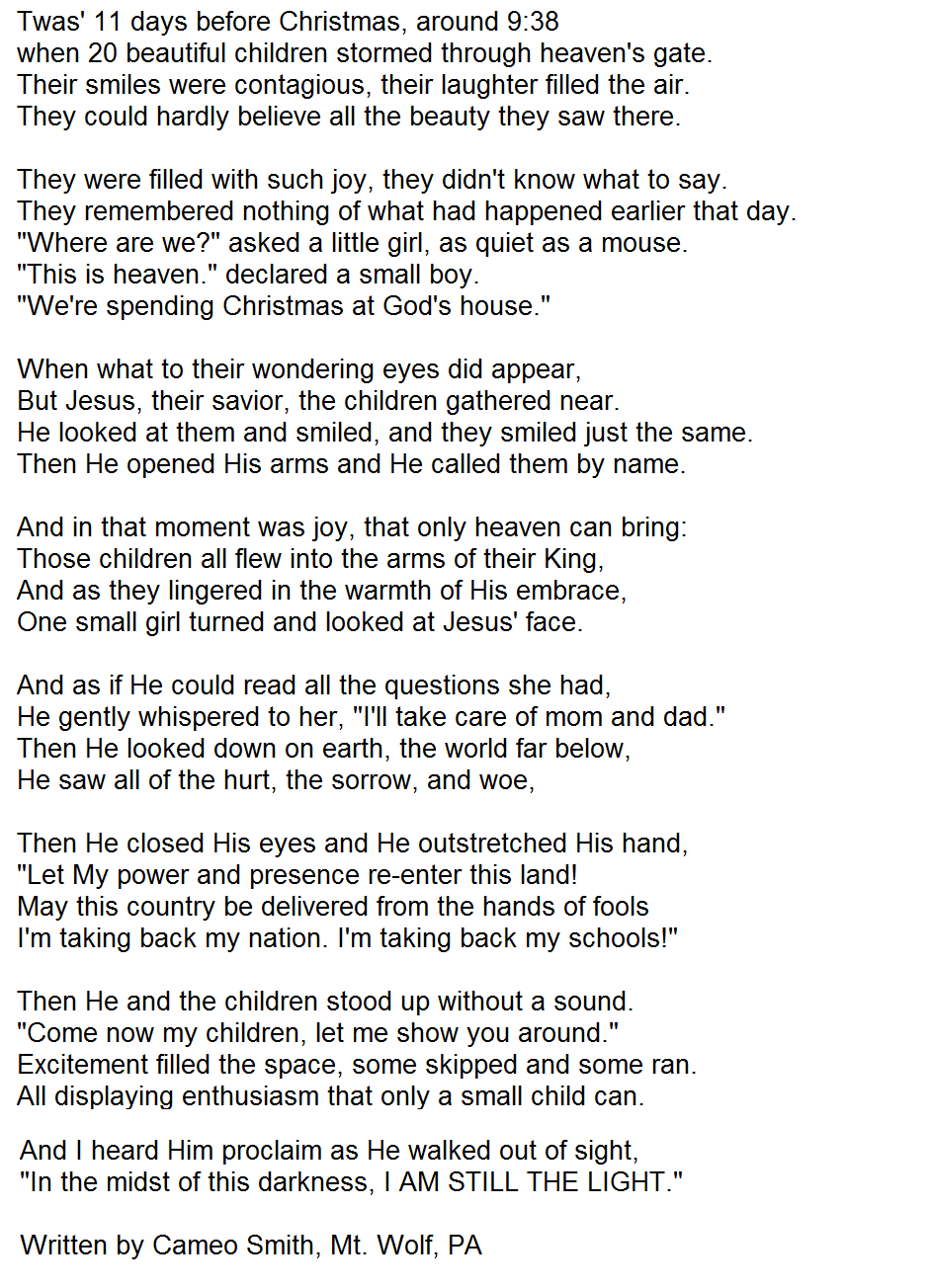 Poem About Sandy Hook Made Me Cry Quotes Quotes Sandy Hook Poems