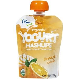 Yogurt Doypack Spouted Bags Plum Organics Baby Food