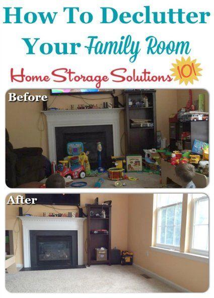 How To Declutter Your Living Room Declutter Living Room Family Room Declutter Declutter