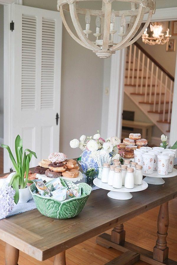 Elegant Easter Breakfast Table Setup.