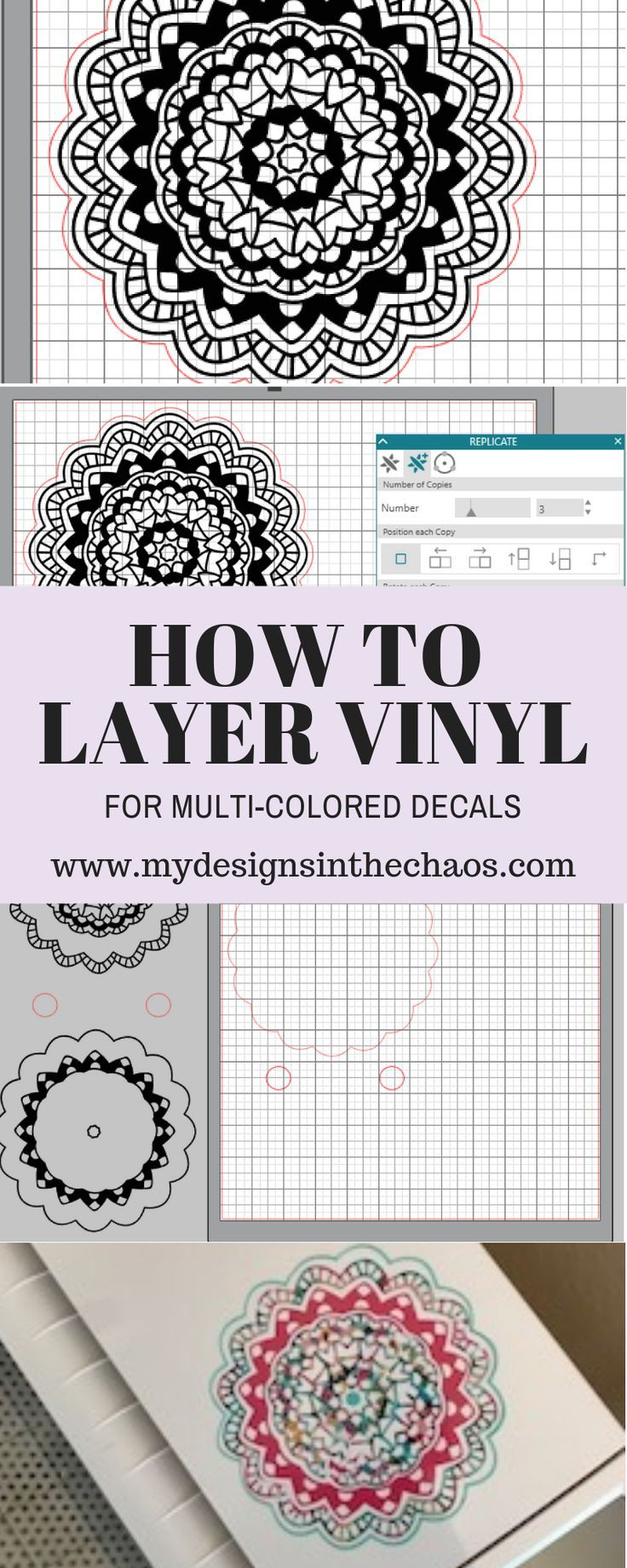 How to Layer Adhesive Vinyl #cricutvinylprojects