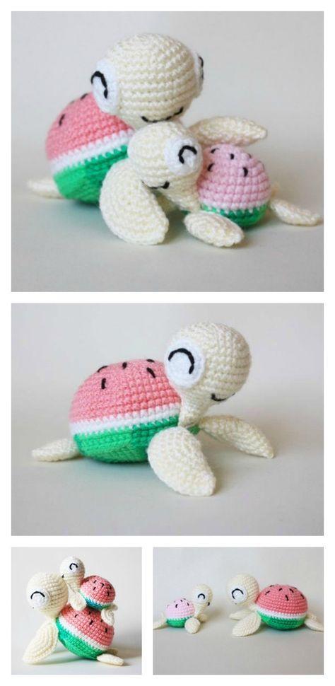 Crochet Turtle Amigurumi Free Patterns | Tortugas, Tejido y Tortuga