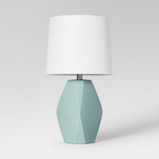 Pick Up End Table Lamps For Living Room Kmart: Modern Ceramic Facet Accent Table Lamp Blush Lamp Only