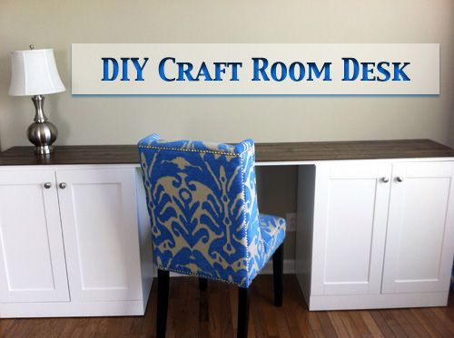 Diy Craft Room Desk From Letsgetcrafty Org This Is Exactly What I