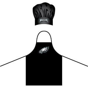 Philadelphia Eagles NFL Barbeque Apron and Chef's Hat