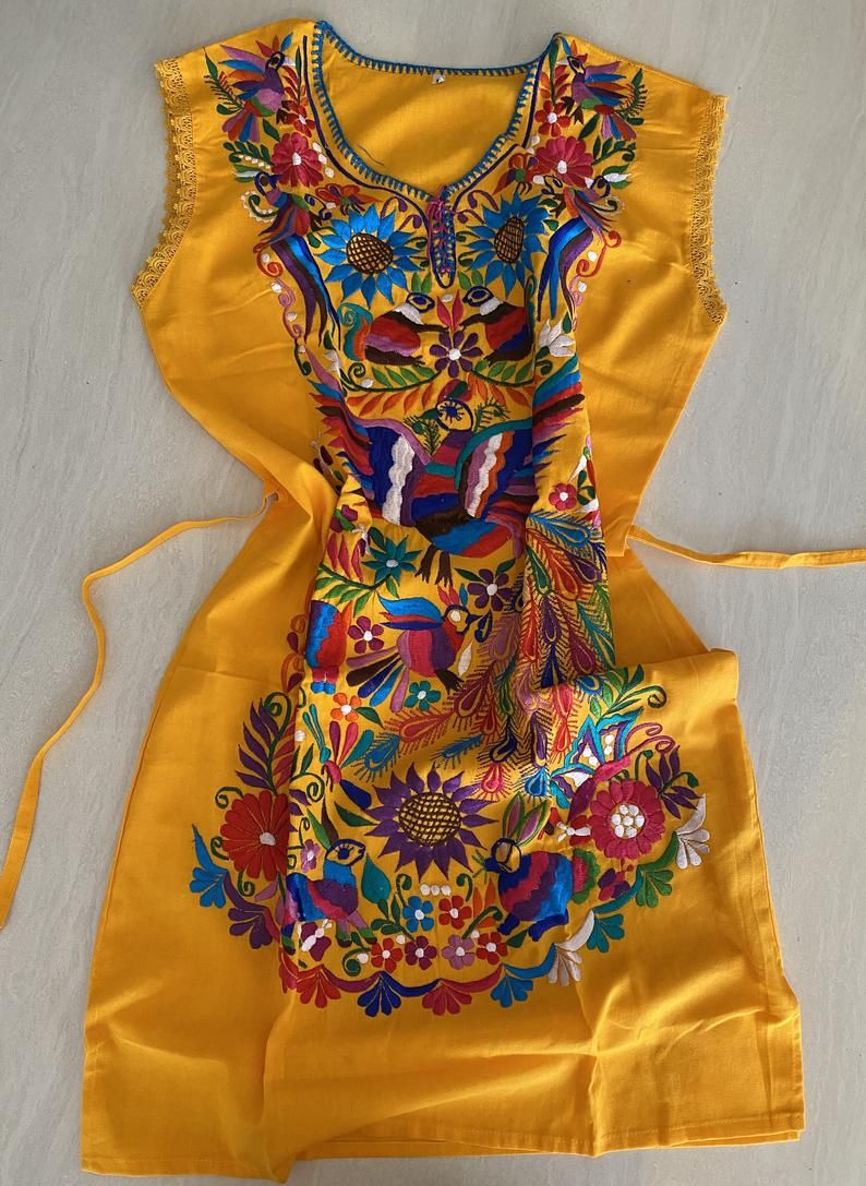 Otomi Dress Embroidery Mexican Otomi Embroidered Dress Mexican Artisanal Dress Mexican Traditional Dress Embroidered Dress Traditional Mexican Dress Embroidery Dress [ 1087 x 794 Pixel ]