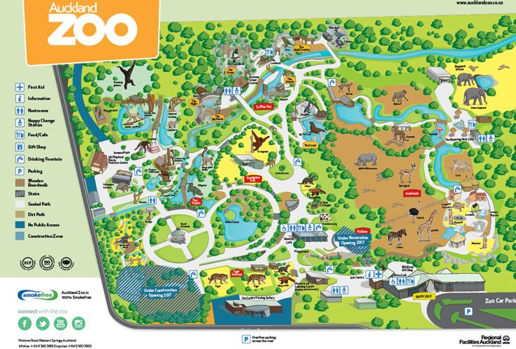 Auckland Zoo Map New Zealand Prep Pinterest Zoos And Park: Los Angeles Zoo Map At Infoasik.co