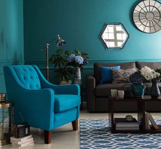Dulux teal tension k che pinterest casa - Gelbe couch ...