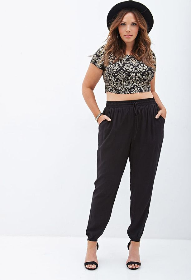 beautiful plus size jogger outfits