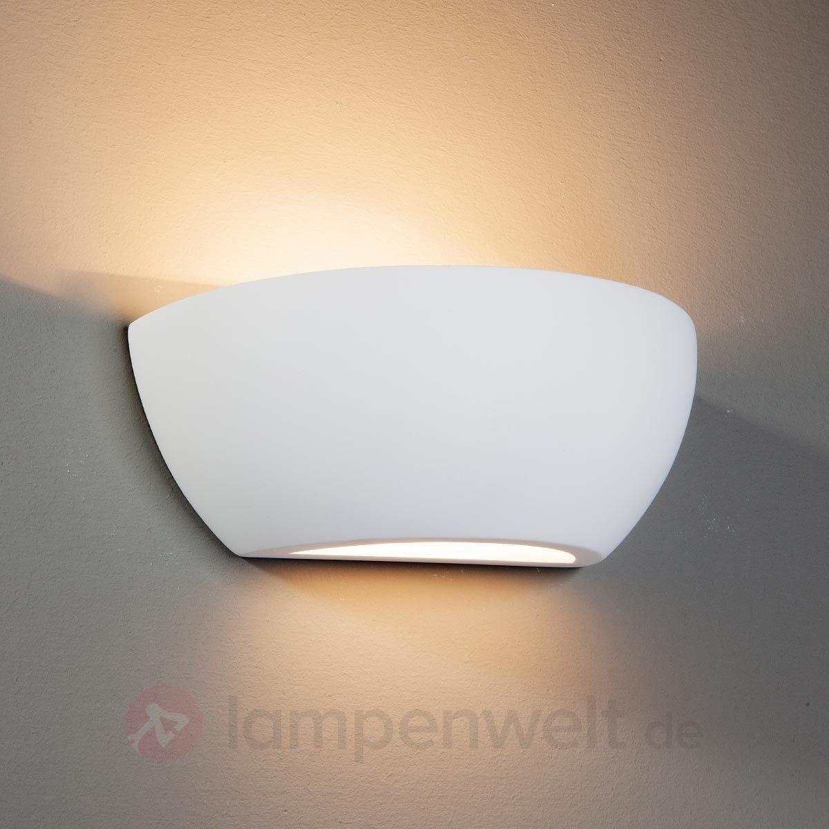 wandleuchte felia aus gips wei lampen wandleuchte w nde und gips. Black Bedroom Furniture Sets. Home Design Ideas