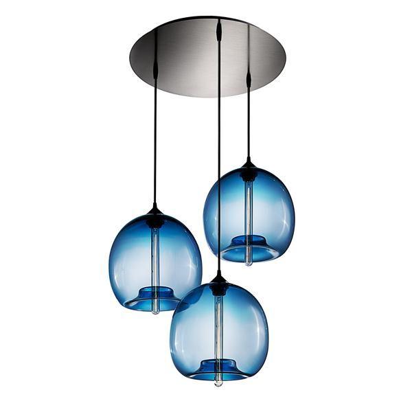 Blue Circular 3 Canopy Chandelier Stamen Pendant In Sapphire From Niche Modern Niche Modern Modern Chandelier Modern Light Fixtures Niche Modern Lighting