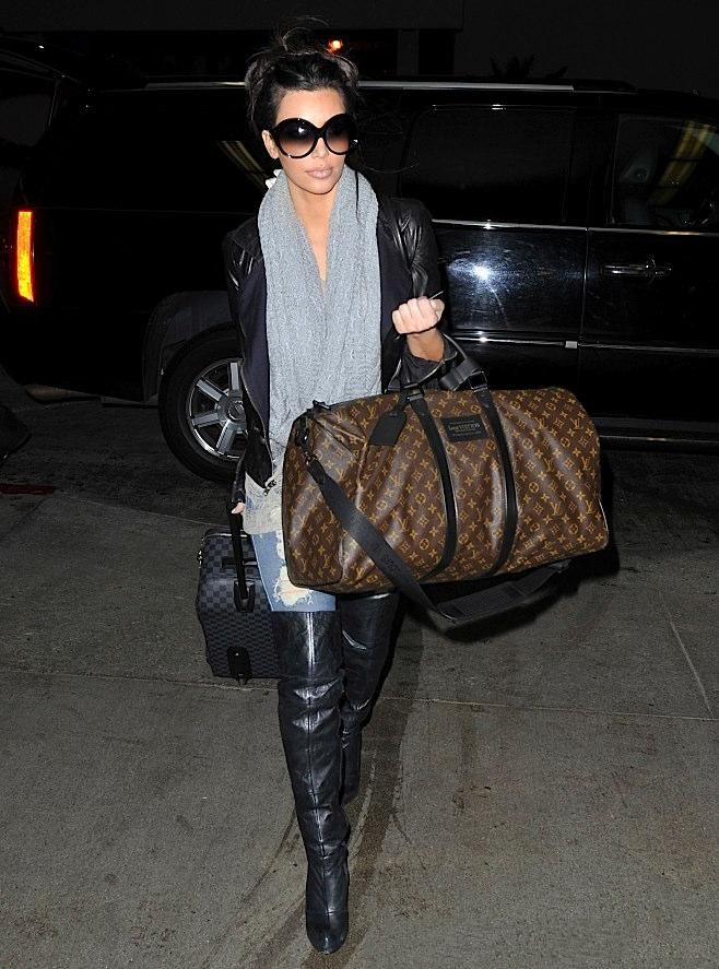 98b1cd5092dc Kim Kardashian and her Keepall