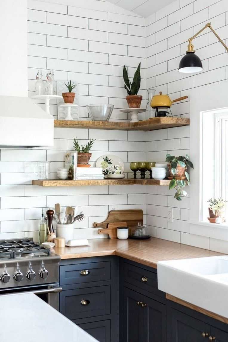 30 Modern Rustic Kitchen Decor Open Shelves Ideas Rustic Kitchen Decor Rustic Modern Kitchen Kitchen Interior