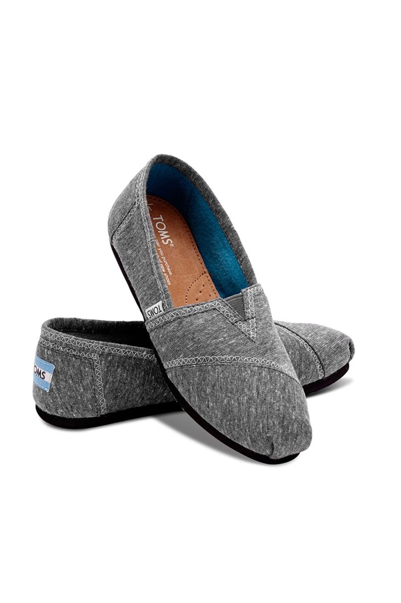 6396b9173ca Toms Women s Classics Dark Grey Jersey. Easy slip-on shoes