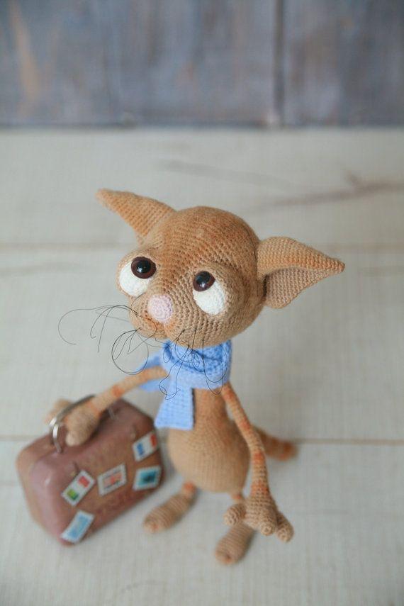 Crochet Cat Dobby / Amigurumi / Crochet Cat / Sad Cat by CRGift ...