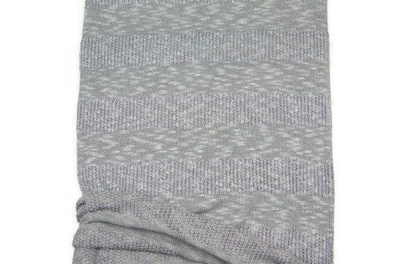 Heather Lavender Gray Stripe Open Weave Sweater by felinusfabrics
