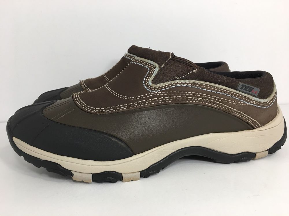 Ll Bean Storm Chaser Brown Duck Shoe Tek2 5 Dri Lex Slip On Size