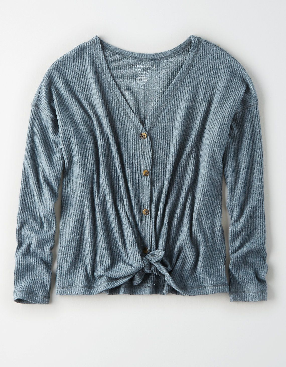 American Eagle Outfitters Mens & Womens Clothing Shoes & Accessories - Eagle Shirt - Ideas of Eagle Shirt #Eagle Shirt -   AE Plush V-Neck Button Up Sweatshirt Blue   American Eagle Outfitters