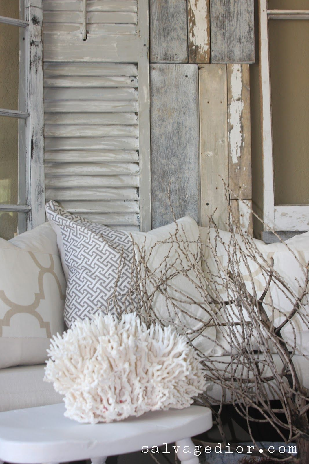 Rustic Coastal Summer Decor   An Interview With Salvage Dior {Ready 4  Summer Home Decor Linky Party
