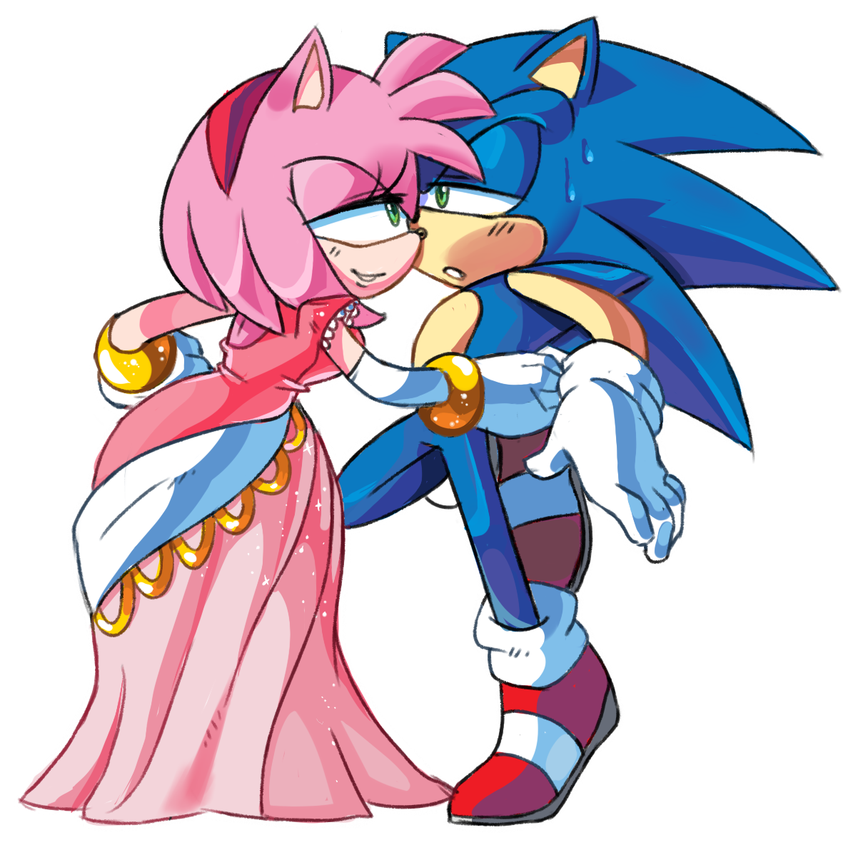 Recreation thing from the scene in sonic x sonic the - Amy rose sonic x ...