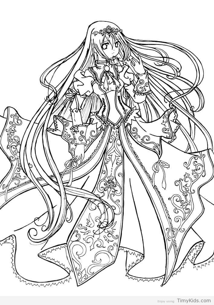 http://timykids.com/anime-princess-coloring-pages.html   Colorings ...