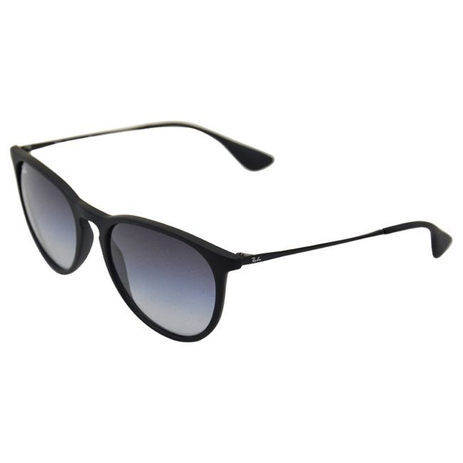 fb966ee5ec67 Ray-Ban Erika Classic RB 4171 Women's Black Frame Grey Gradient Lens  Sunglasses (54 mm), Size One Size Fits Most (Metal)