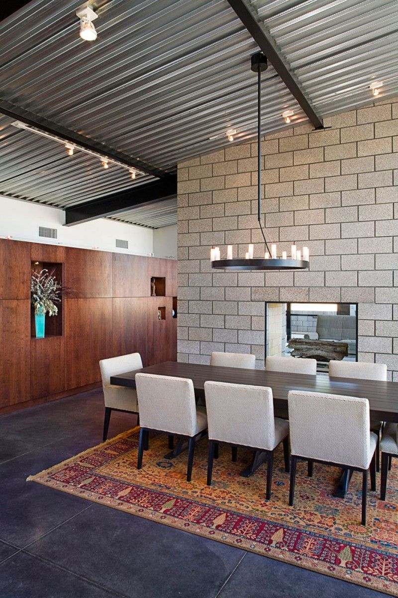 Flyway View House By Jon Anderson Architecture Cinder Block House Industrial House House Design